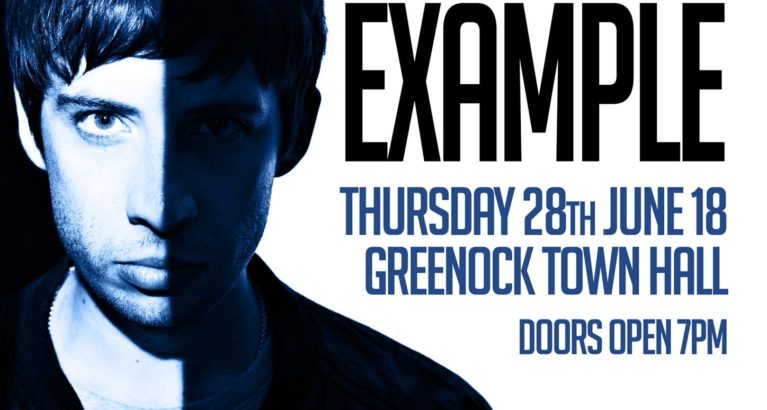 Example and George Bowie will play Greenock Town Hall on June 28th 2018